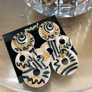 Vintage Hand Made Clip-On Earrings